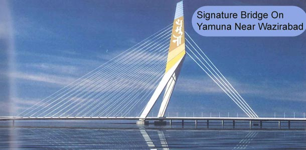 Signature Bridge On Yamuna Near Wazirabad Delhi